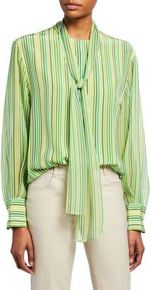 Akris Silk Crepe Tunic Top w/ Scarf