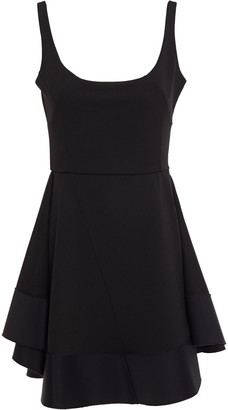 Esteban Cortazar Flared Twill-paneled Cady Mini Dress