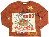 Dolce & Gabbana Spaghetti Printed Cotton Jersey T-Shirt