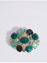 M&S Collection Stone Cluster Brooch