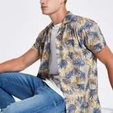 River Island Mens Jack and Jones Originals Beige Hawaiian shirt