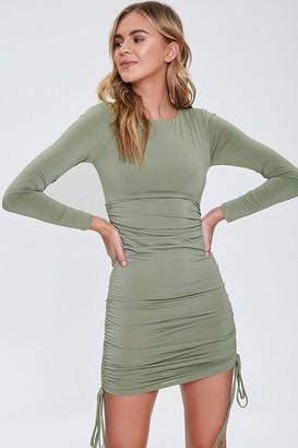 Forever 21 Ruched Drawstring Mini Dress