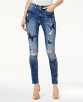 Buffalo David Bitton Embroidered Lucky Me Wash Skinny Jeans