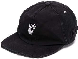 Off-White Distressed Embroidered Cap