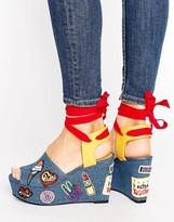 Tommy Hilfiger Gigi Hadid Denim Patch Wedge Sandals