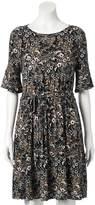Lauren Conrad Women's Floral Fit & Flare Dress