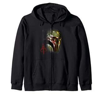 Star Wars Boba Fett Big Face Halloween Zip Hoodie