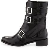 Rachel Zoe Joni Leather Moto Boot, Black