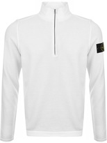 Stone Island Full Zip High Neck Jumper Cream