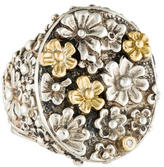 Konstantino Bicolored Flower Cluster Ring
