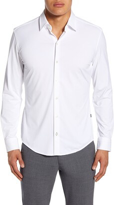 HUGO BOSS Robbie Regular Fit Button-Up Performance Shirt