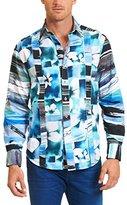 Robert Graham Men's Arabian Sea Long Sleeve Woven Shirt