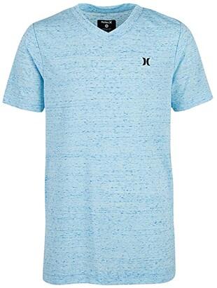Hurley Cloud Slub Staple V-Neck Tee (Big Kids) (Topaz Mist) Boy's T Shirt