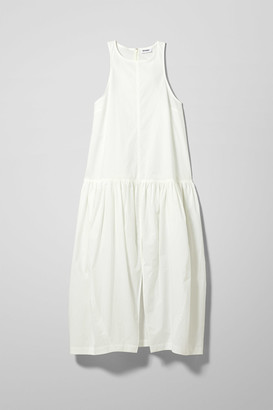 Weekday Tatlin Poplin Dress - White