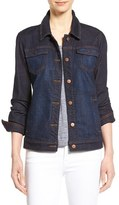 Eileen Fisher Women's Denim Classic Collar Jacket