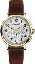 Ingersoll Men's Quartz Stainless Steel and Leather Casual Watch, Color:Brown (Model: I01703)