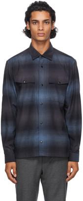 Ermenegildo Zegna Blue Check Overshirt