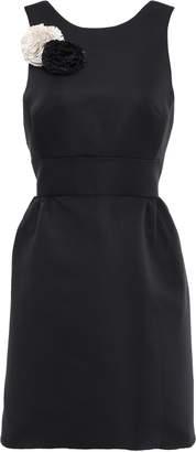 Kate Spade Floral-appliqued Faille Mini Dress