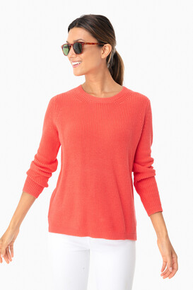 525 America Dusty Lilac Emma Crewneck Shaker Sweater