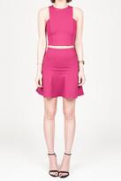 Donna Mizani Mini Flounce Skirt In Berry