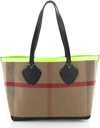Burberry Reversible Giant Tote House Check Canvas Large