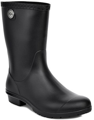 UGG Sienna Matte Shearling-Lined Rain Boots