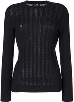 A.P.C. lace knit jumper - women - Silk/Cotton/Cashmere - XS