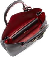 Prada Saffiano Cuir Double Small Tote Bag, Black/Red (Nero+Fuoco)