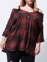 RI Plus Check Bardot Shirt