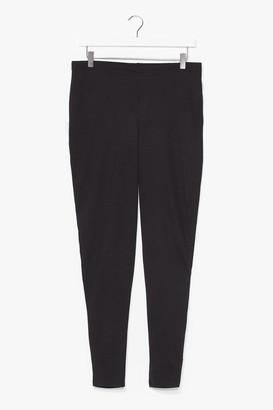 Nasty Gal Womens Plus Size High Waist Skinny Trouser - Black