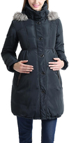 Steel Gray Down Maternity Anorak Jacket