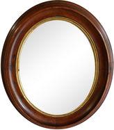 One Kings Lane Vintage Oval Mahogany Mirror