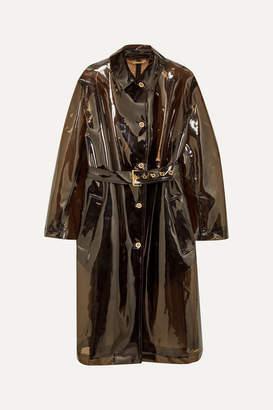 Versace Pvc Trench Coat - Black