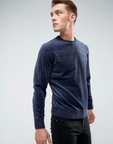 Esprit Sweatshirt In Velour Cotton