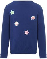 Benetton Girls Texture Applique Badge Long Sleeve T-shirt