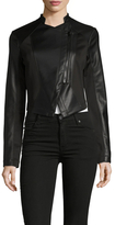 Rachel Roy Faux Leather Seamed Biker Jacket