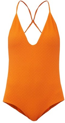 Dodo Bar Or Rossie Crossover-strap Swimsuit - Orange