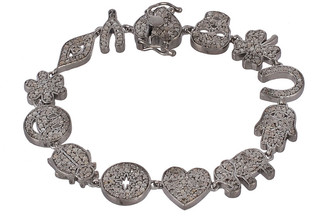 Forever Creations Usa Inc. Forever Creations Silver 2.80 Ct. Tw. Diamond Bracelet