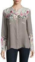 Elie Tahari Floral Silk Shirt