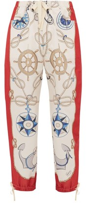 Gucci Nautical-print Technical Track Pants - Mens - White Multi