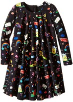 Dolce & Gabbana Back to School Printed Long Sleeve Dress (Toddler/Little Kids)