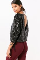 Silence & Noise Silence + Noise Donna Sequin Boat-Neck Top