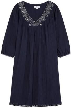 Velvet by Graham & Spencer Trista Navy Embroidered Dress