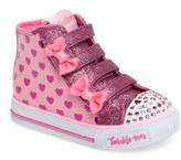 Skechers Toddler Girl's 'Twinkle Toes - Shuffles' High Top Sneaker