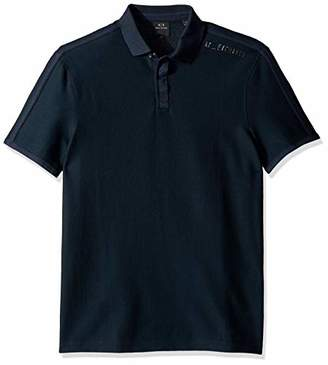 Armani Exchange A|X Men's Plain Short-Sleeve Polo Shirt