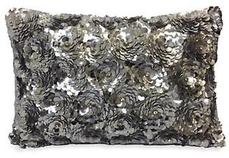 Callisto Home Hand Embroidered Sequin Petal Pillow