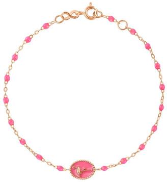 Gigi Clozeau Classic Gigi Flamingo Pink Bracelet - Yellow Gold