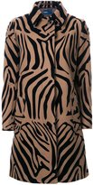 Kolor animal print coat - women - Nylon/Wool - 1