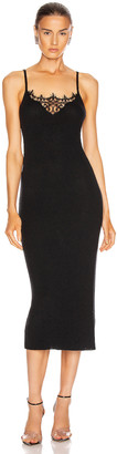 Jonathan Simkhai Melanie Cashmere Lace Tank Dress in Black | FWRD