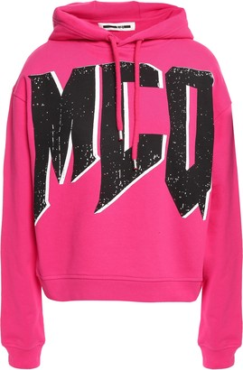 McQ Printed French Cotton-terry Hoodie